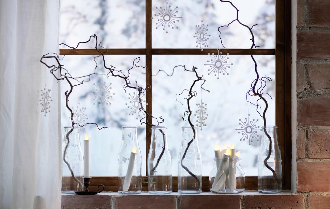 Новорічний декор вікон: вмикаємо фантазію