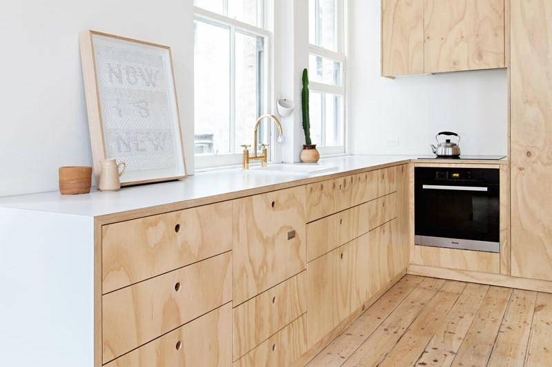 Дерев'яна підлога та меблі у скандинавському стилі