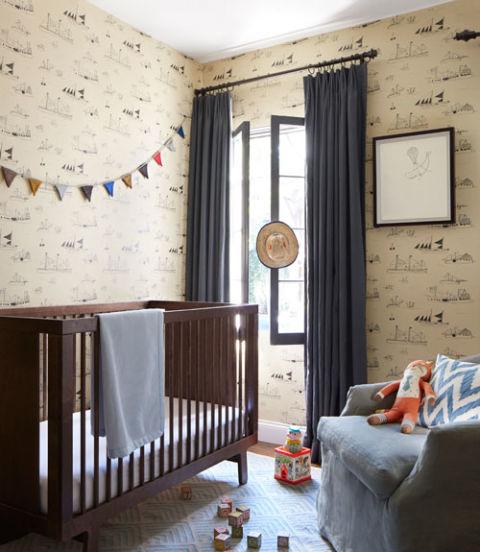 Шпалери на стінах дитячої кімнати