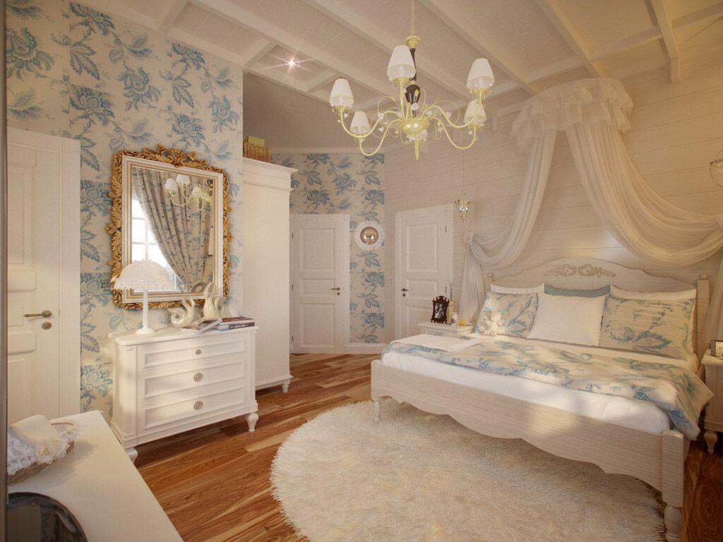 Французький кантрі в дизайні спальні