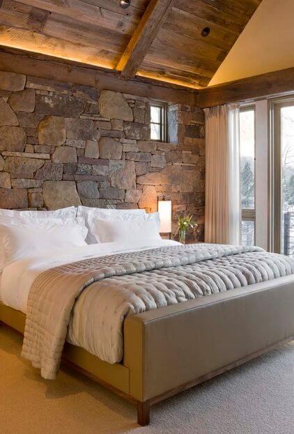 Дизайн спальні в стилі кантрі