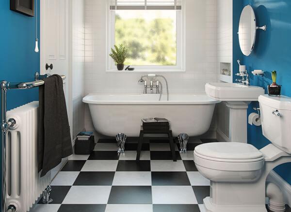 Фарбовані стіни в дизайні ванної кімнати