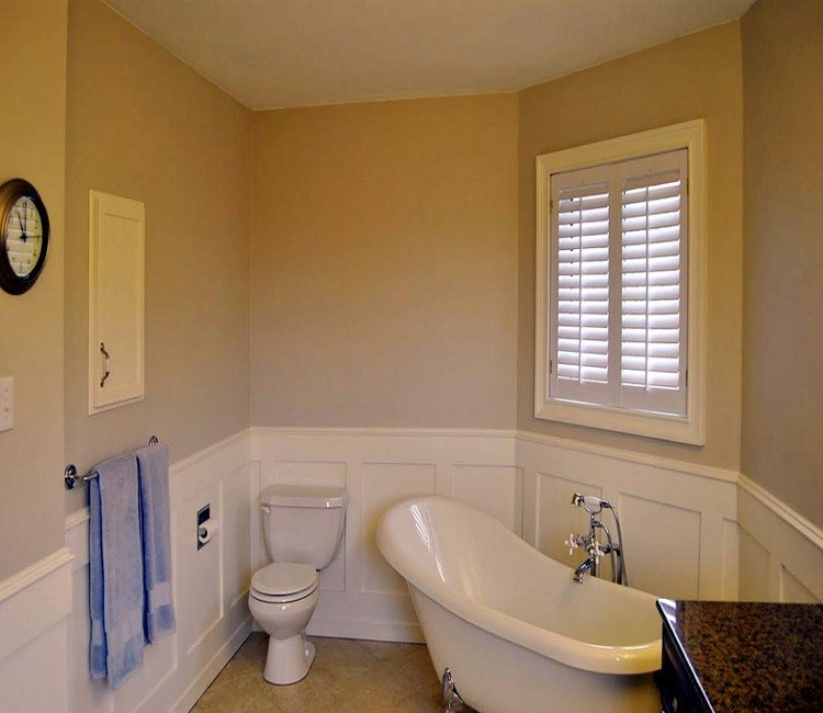 Склошпалери для оздоблення маленької ванної кімнати