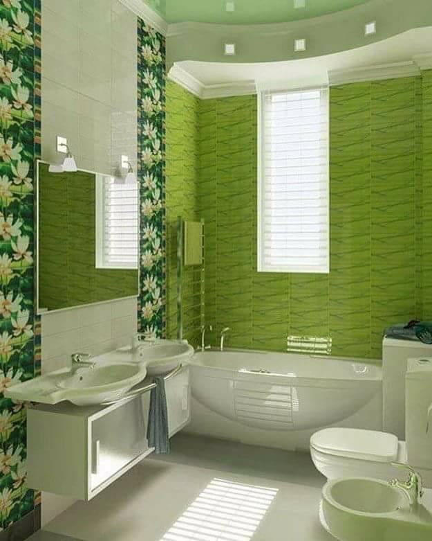 Зелений колір у ванній