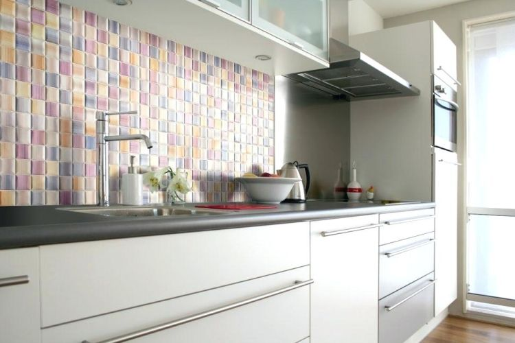 Оригінальний різнобарвний кухонний фартух