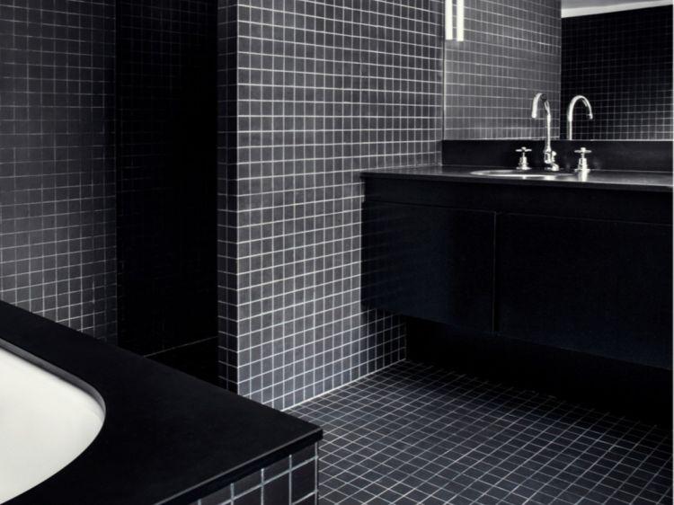 Дизайн ванної кімнати чорного кольору - модна фішка 2019