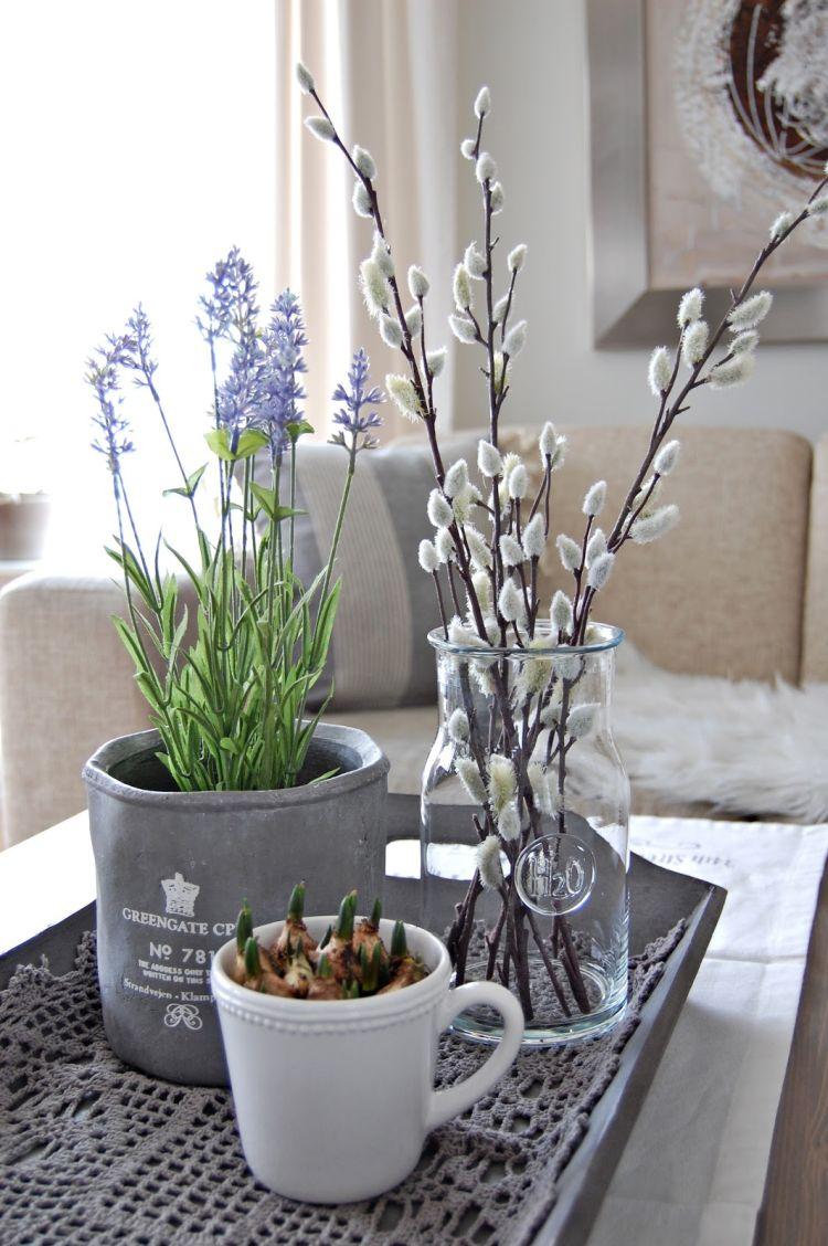 Весняний декор з гілочками верби