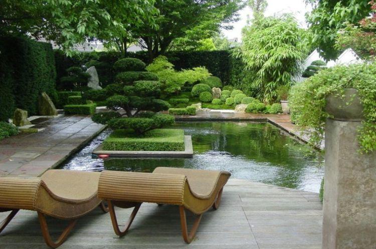 Відкрита тераса в стилі мінімалізм біля басейну