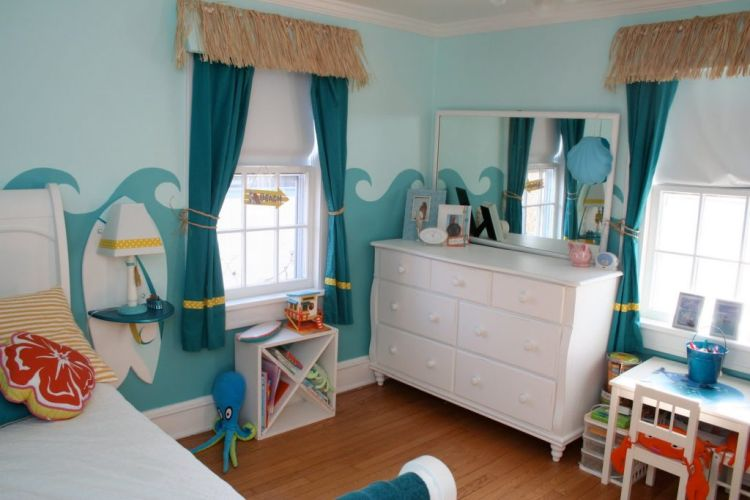 Кольори морської палітри у дитячій кімнаті