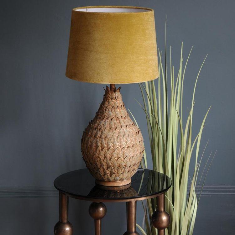 Оксамитовий абажур для стильного світильника