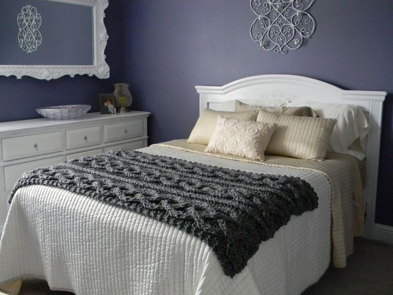 Теплий в'язаний текстиль для ліжка