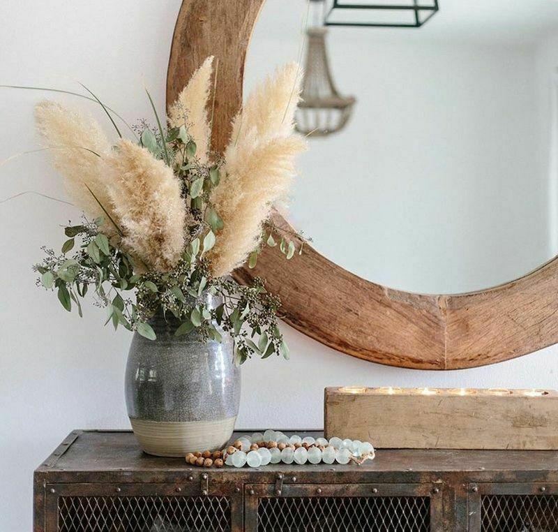 Зимовий декор: букет з пампасною травою