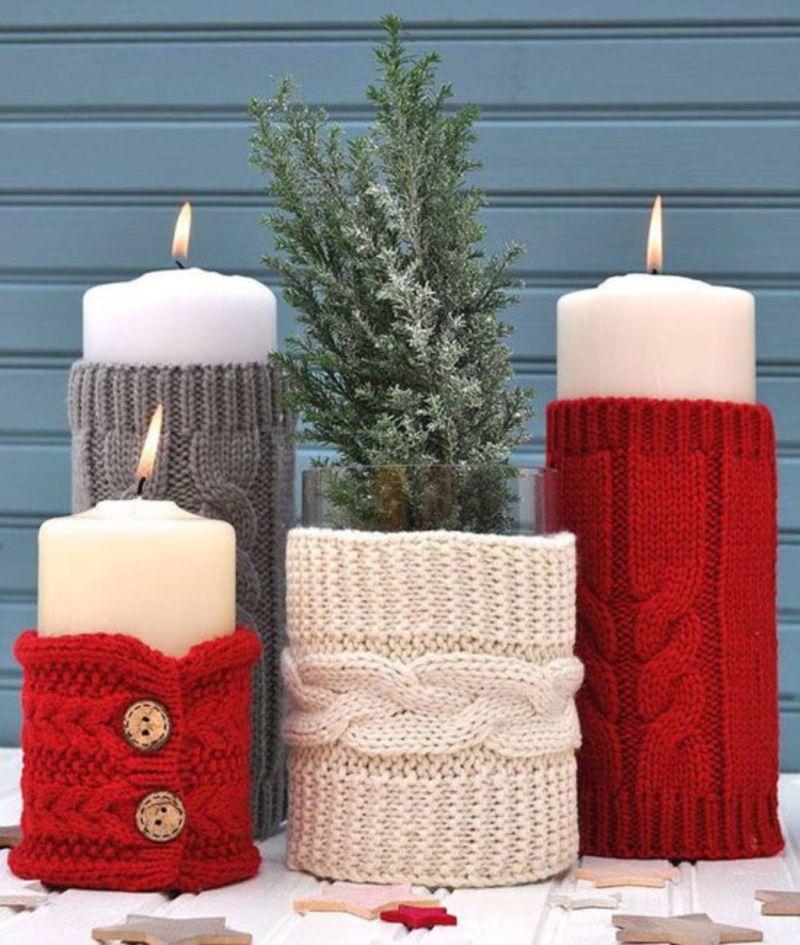 В'язані футляри для свічок роблять атмосферу вдома ще теплішою