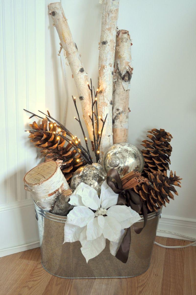 Натуральні матеріали для зимової інтер'єрної композиції