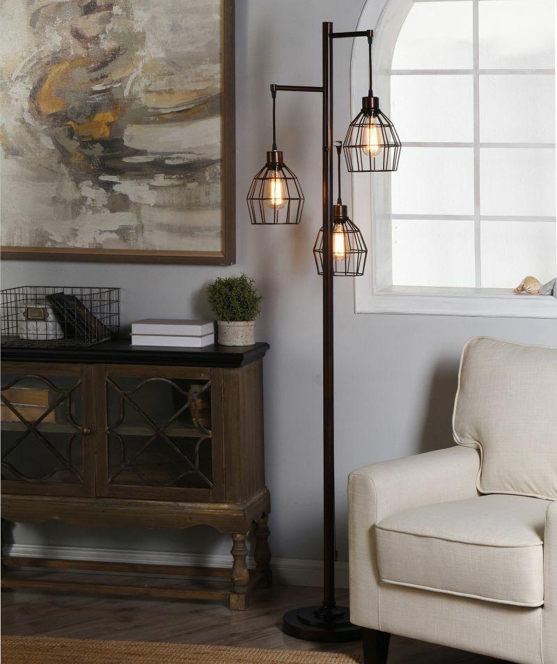 Світильник-торшер з 2 лампами