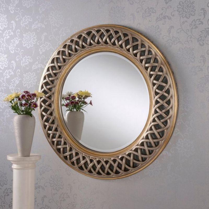 Витончена рама для круглого дзеркала