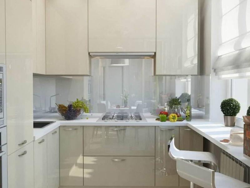 Мінімалістський дизайн шаф, щоб полегшити прибирання на кухні