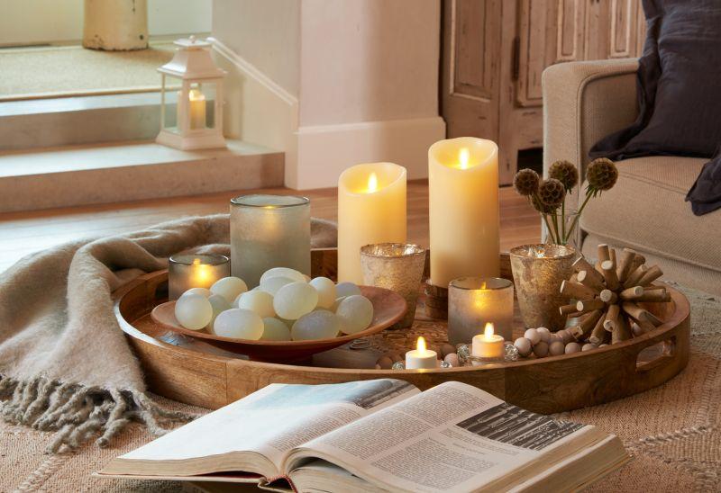 Тепло від декоративних свічок в інтер'єрі