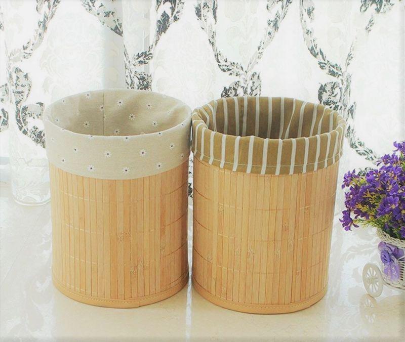 Бамбукові місткості для зберігання на кухні
