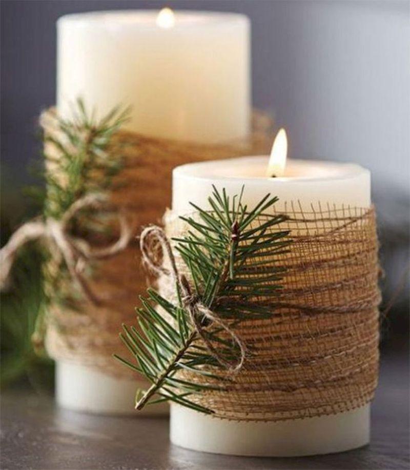 Прикрашені до свята свічки
