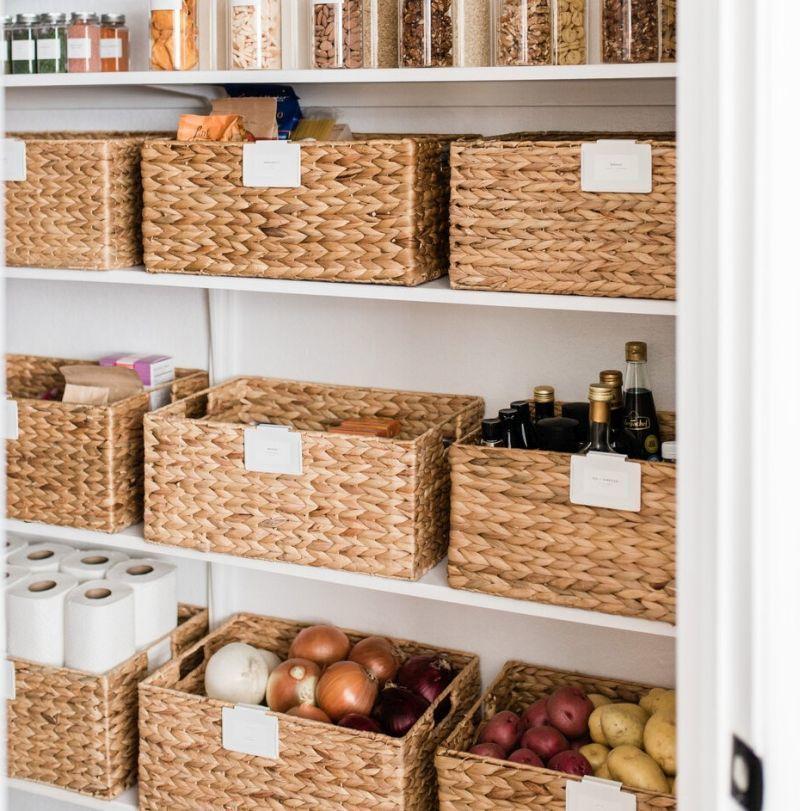 Плетені контейнери для зберігання продуктів