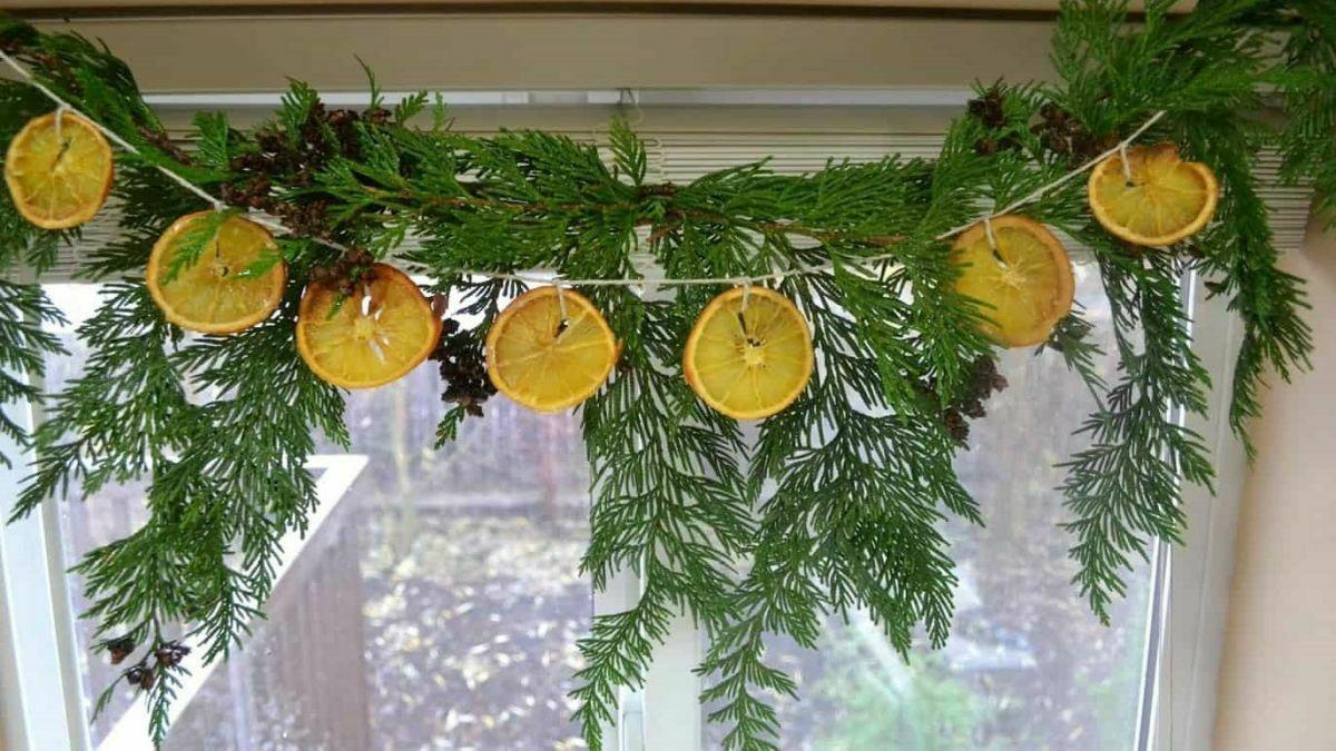 Цитрусовий декор до зимових свят