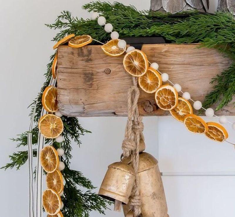 Гірлянда із засушених цитрусів у кантрі-стилі