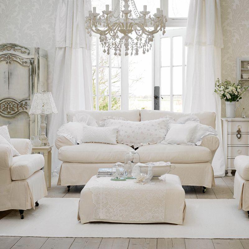 Білий інтер'єр з білими меблями