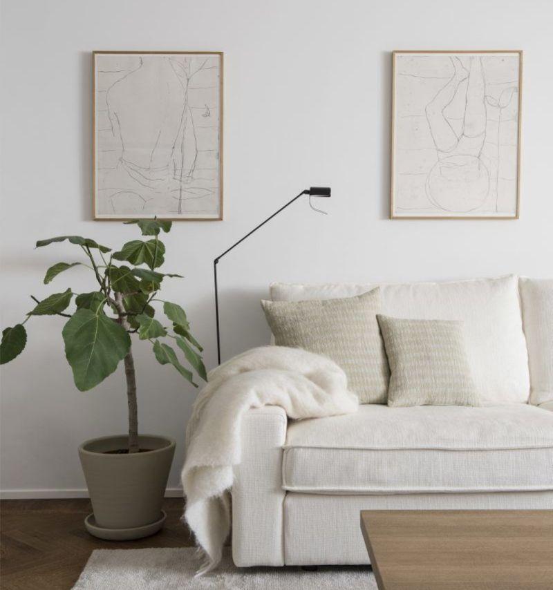 Лаконічний декор в інтер'єрі білого кольору