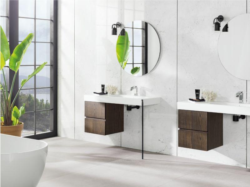 Керамічна плитка великого формату для стін ванної кімнати