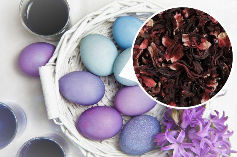Використання каркаде для забарвлення яєць на Великдень