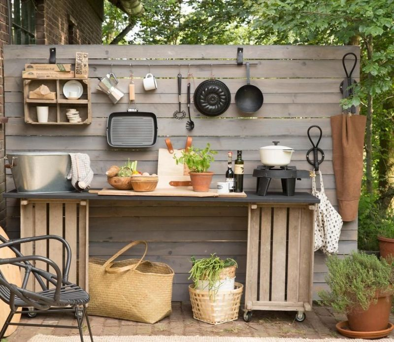 Бюджетний варіант: літня кухня на дачі